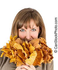 mujer, otoño sale