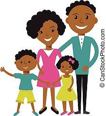 mujer, pareja, joven, clothes., norteamericano, africano, ...