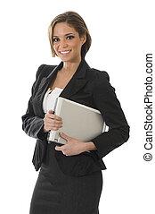 mujer profesional, blanco