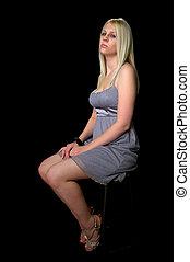 mujer se sentar