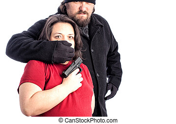 mujer, ser, assaulted