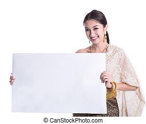 mujer, tailandés