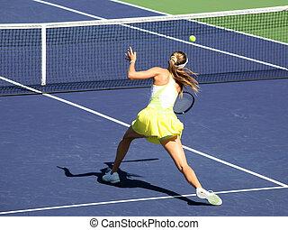 mujer, tenis
