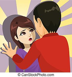 mujer, víctima, abuso