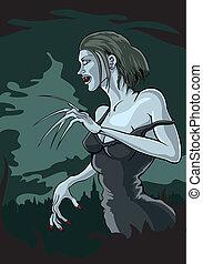 mujer, vampiro