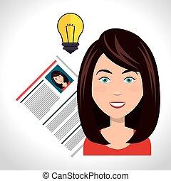mujer, y, plan de estudios, vitae