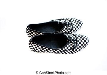 mujer, zapato