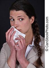 mujeres, alérgico