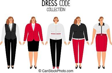 mujeres, código del vestido