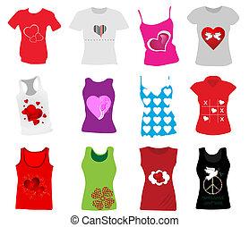 mujeres, camisetas