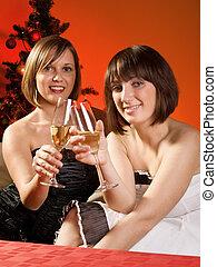 mujeres, celebrar la navidad