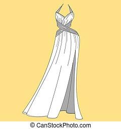 mujeres, dress., diseño