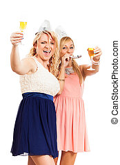 mujeres felices, celebrar, fiesta