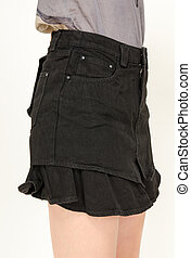 mujeres, moda, falda
