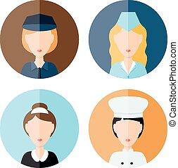 mujeres, profesión, iconos