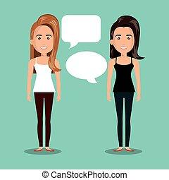 mujeres que hablan, diálogo, aislado