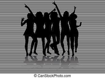 mujeres, siluetas