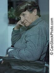 mujeres viejas, con, demencia