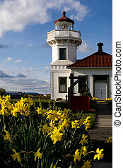 Mukilteo lighthouse - Washington state landmark
