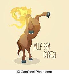 mula, sem, cabe?a, mule), (headless