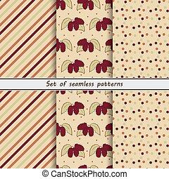 mulberry, a set of seamless pattern