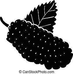 Mulberry icon, simple style