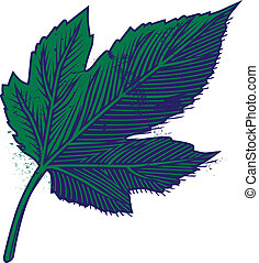 Mulberry Leaf - Icon of a blue and green mulberry tree leaf