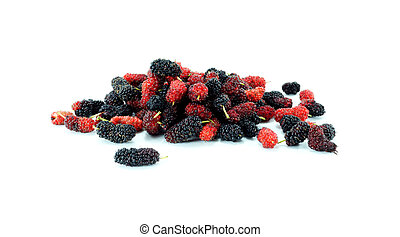 Mulberry on white background.