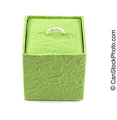 Mulberry Paper Green Box Hand made.