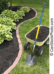 Mulch Bed With Edging - Mulch bed around the house and...