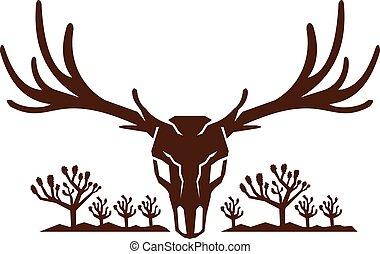 mule-deer-skull-joshua-tree-mountains - Icon style ...