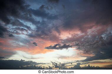 mulen himmel, solnedgång