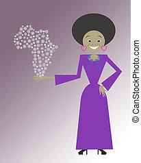 mulher, africano