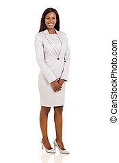 mulher, africano, negócio moderno