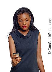 mulher americana africana, negócio