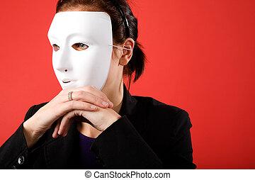 mulher, anônimo, negócio