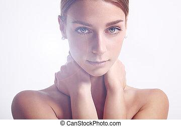 mulher, backlight