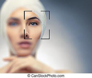 mulher, beleza