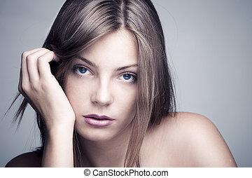 mulher, beleza natural