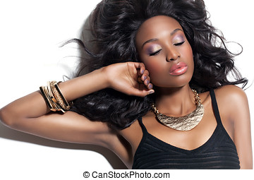mulher bonita, africano