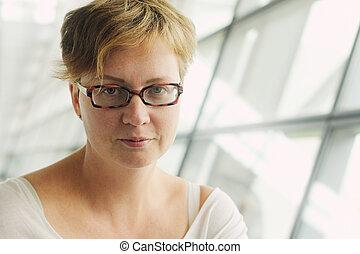 mulher bonita, antigas, 35, anos, retrato