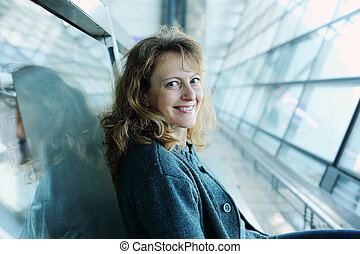 mulher bonita, antigas, 40, anos, retrato
