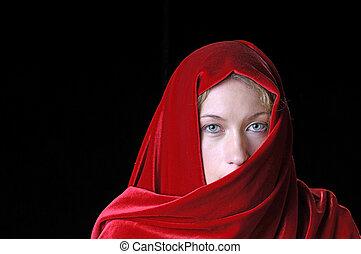 mulher bonita, closeup, jovem