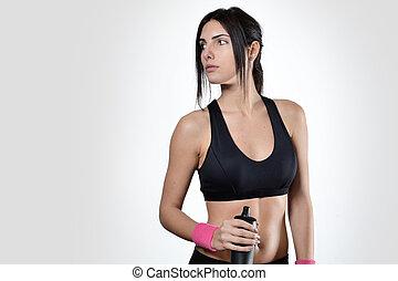 mulher bonita, condicão física