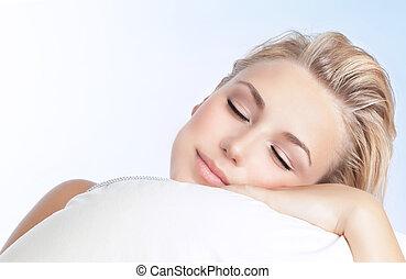 mulher bonita, dormir
