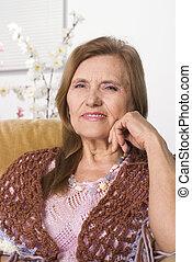 mulher bonita, idoso