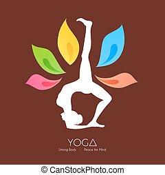 mulher bonita, ioga