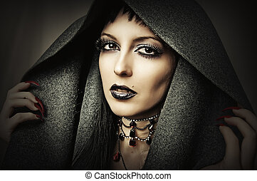 mulher bonita, morena, jovem
