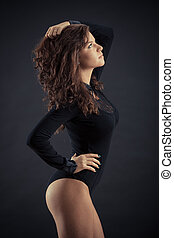 mulher bonita, pretas