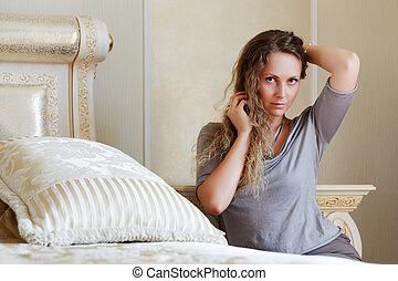 mulher bonita, quarto